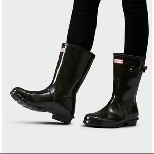 Hunter Original Short Gloss Rain Boot - Black